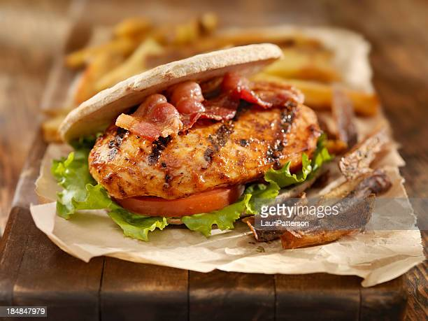 BBQ Chicken Breast Burger with Bacon