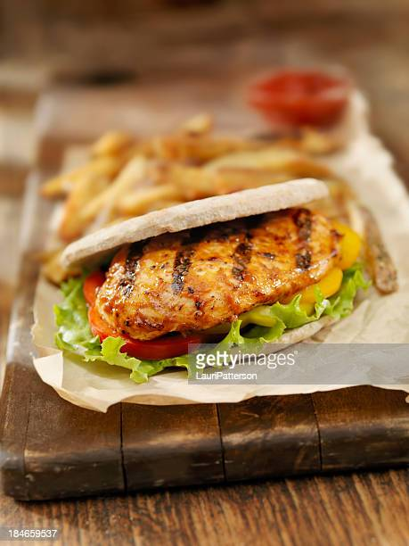 BBQ Chicken Breast Pita Burger