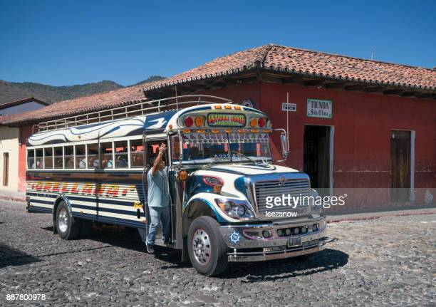 Chicken Bus in Antigua, Guatemala
