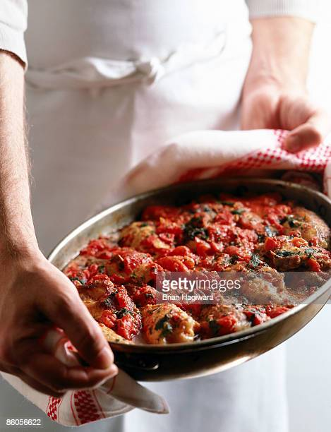 Chicken Cacciatore with tomatoes