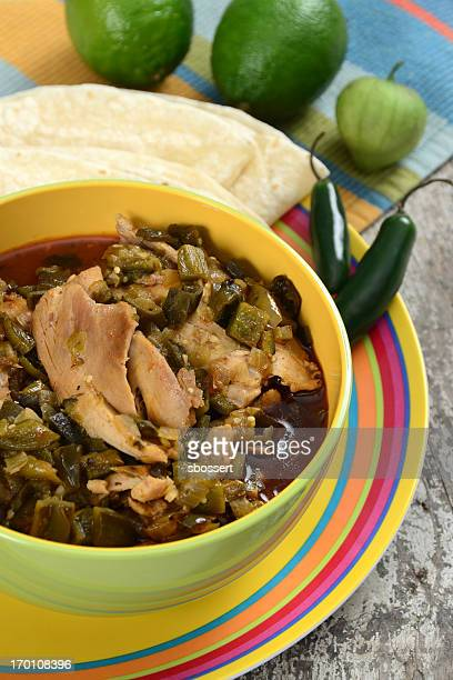 chicken chile verde - green chili pepper stock pictures, royalty-free photos & images