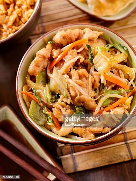 chicken chop suey - chop suey stock photos and pictures