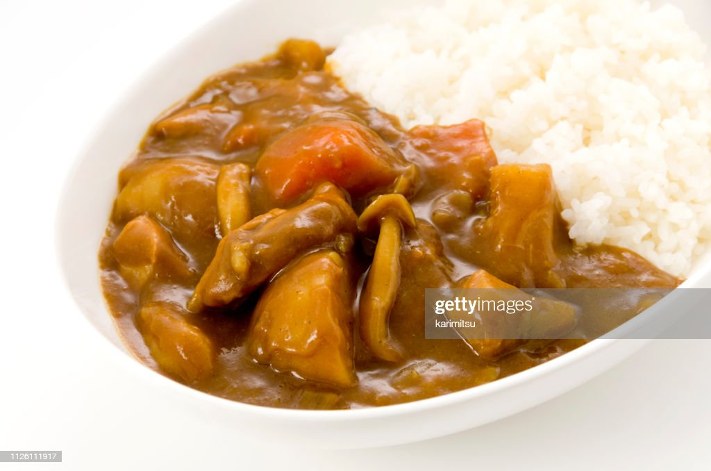 Chicken curry with rice : Stock Photo