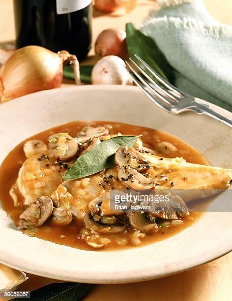 Chicken cutlet in mushroom sauce