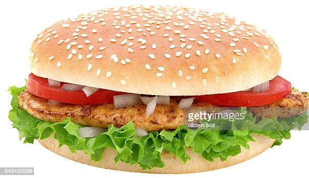 A chicken fillet burger