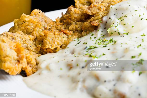 chicken fried steak with beer - fried chicken stock pictures, royalty-free photos & images