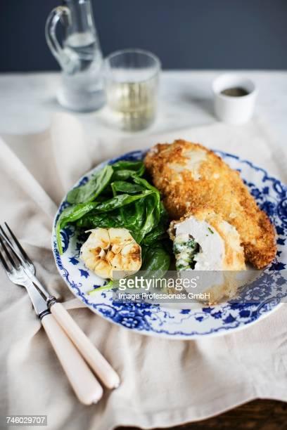 Chicken Kiev with spinach