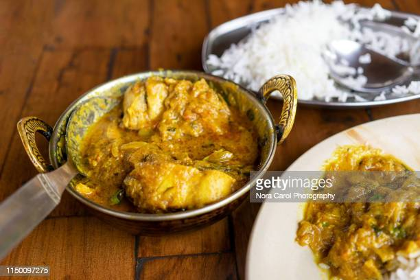 chicken korma indian food - carol cook stock pictures, royalty-free photos & images