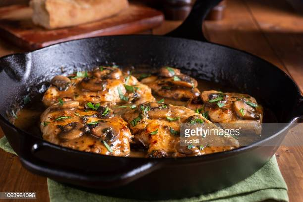 chicken marsala - chicken meat stock pictures, royalty-free photos & images