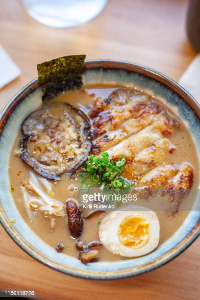 chicken miso ramen - nori stock pictures, royalty-free photos & images