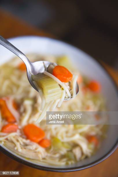 Chicken Noodle Soup In Soup Bowl