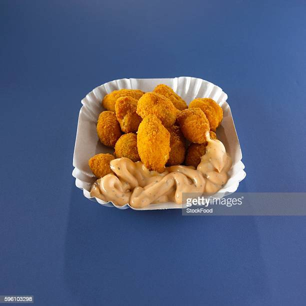 Chicken nugget with a dip