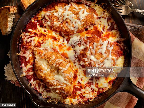 Chicken Parmesan Baked in Tomato Sauce with Mozzarella Cheese
