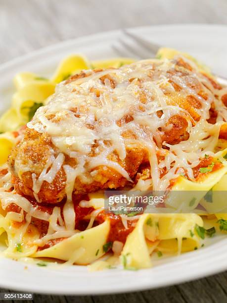 Chicken Parmesan with Pasta and Tomato Sauce