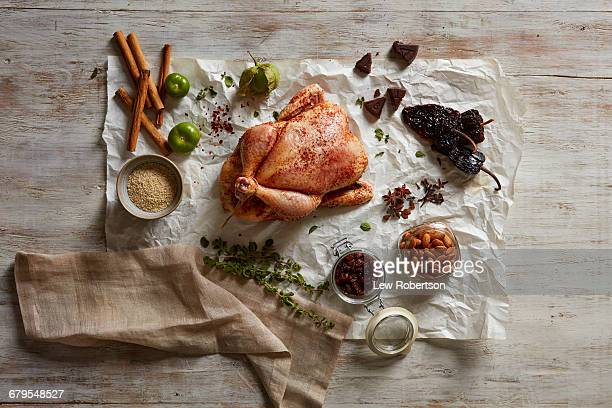 chicken - wax paper stock photos and pictures