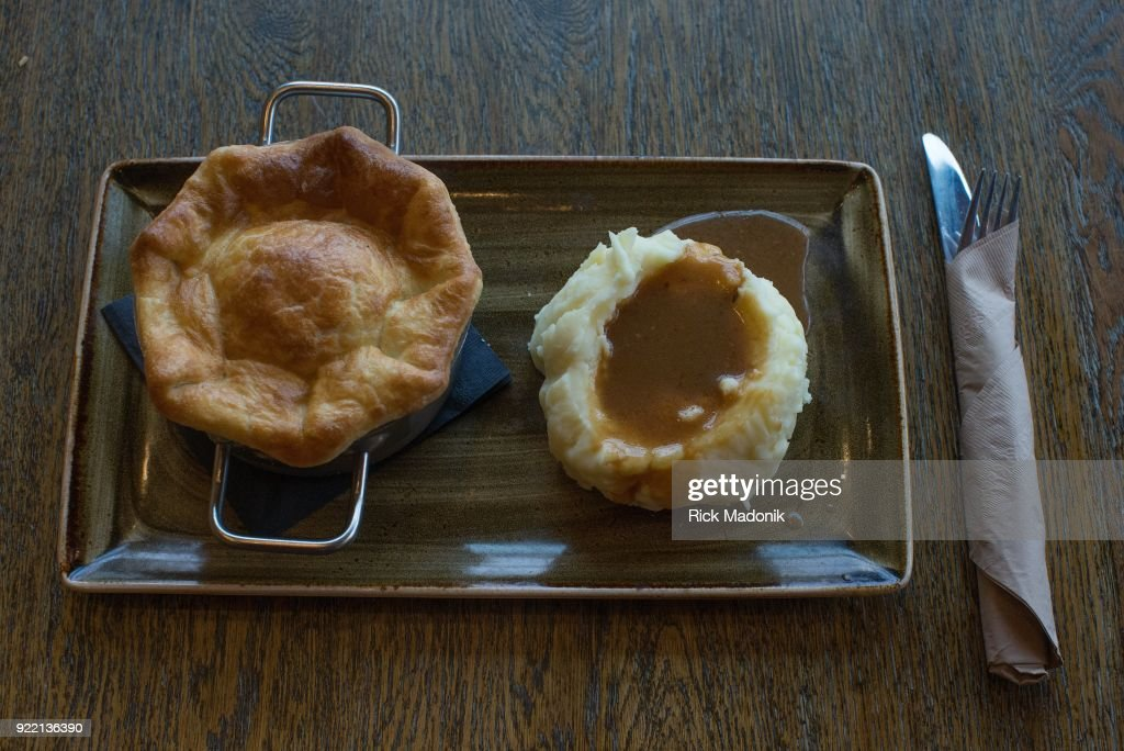 Chicken Pot Pie with mashed potatoes and gravy from The Goodman Pub at Queen's Quay Terminal.