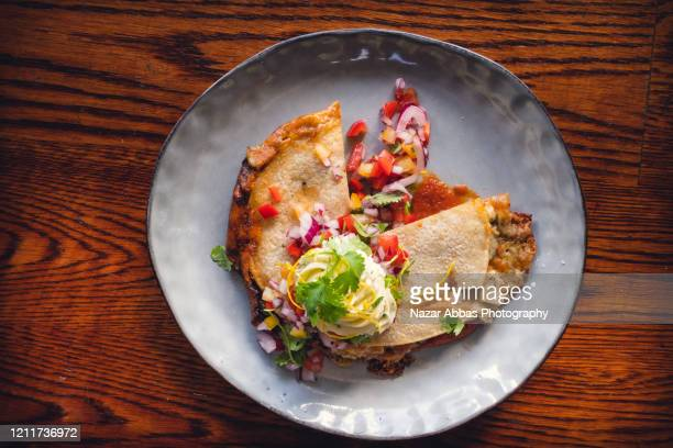 chicken quesadilla. - nazar abbas photography stock pictures, royalty-free photos & images