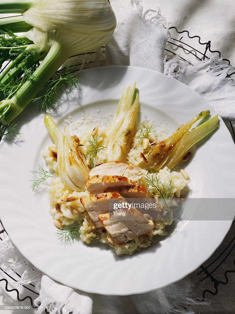 Chicken Risotto with Fennel : Stock Photo