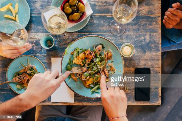 chicken salad for lunch - perth australia stock pictures, royalty-free photos & images