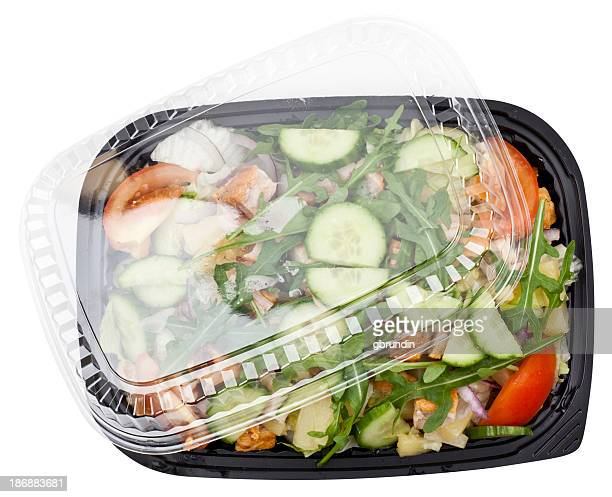 Chicken salad in plastic container