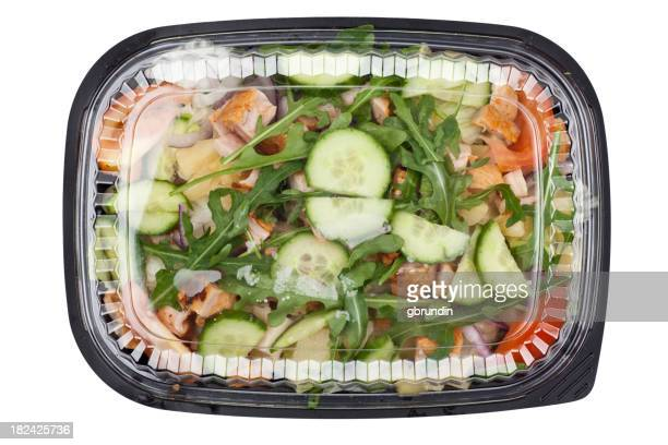 Chicken salad in plastic takeaway container