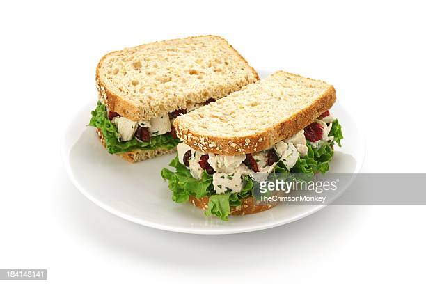 chicken salad sandwich - sandwich stock pictures, royalty-free photos & images