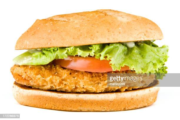 chicken sandwich on white (full front)