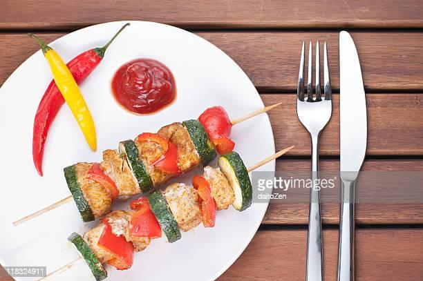 Chicken shashlik kebabs