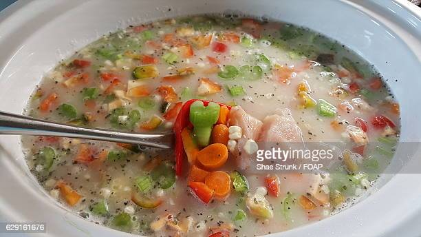 chicken soup - chicken soup stock photos and pictures