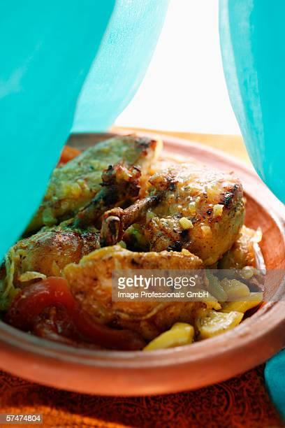Chicken tajine with tomatoes (N. Africa)