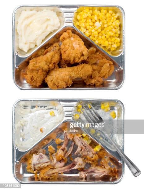Télévision de poulet pour le dîner