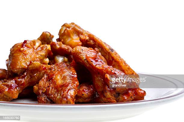 chicken wings isolated on white - chicken wings stock pictures, royalty-free photos & images