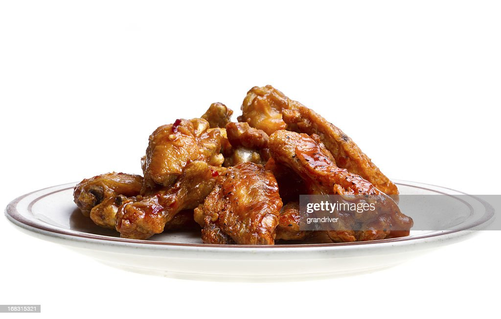 Chicken Wings Isolated on White : Stock Photo