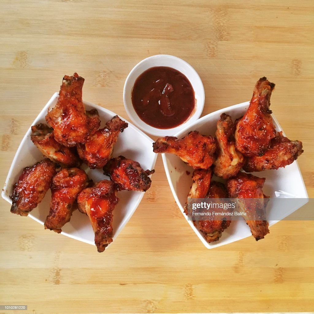 BBQ Chicken Wings : Stock Photo