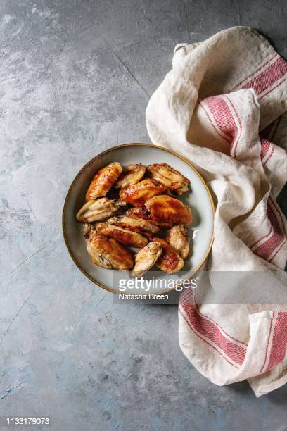 bbq chicken wings - ready to eat stock pictures, royalty-free photos & images