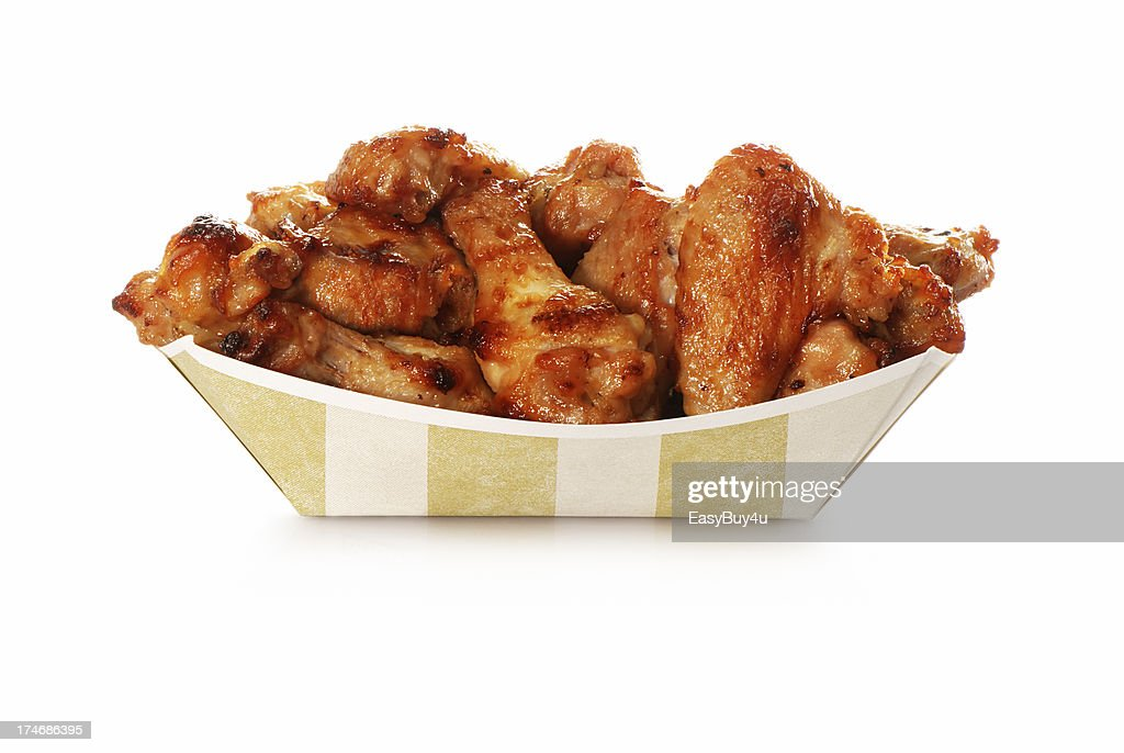 Chicken wings take out : Stock Photo