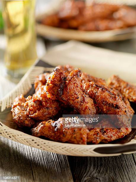 BBQ Chicken Wings with a Beer