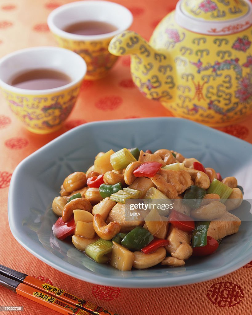Chicken with Cashew Nuts : Stock Photo