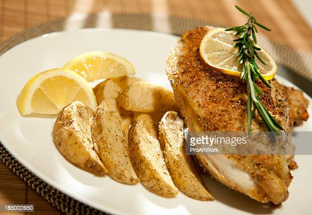 Chicken with Oven Fries