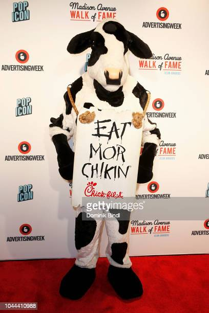 ChickFilA Cow attends Madison Avenue Walk of Fame Icon Awards at PlayStation Theater on October 1 2018 in New York City