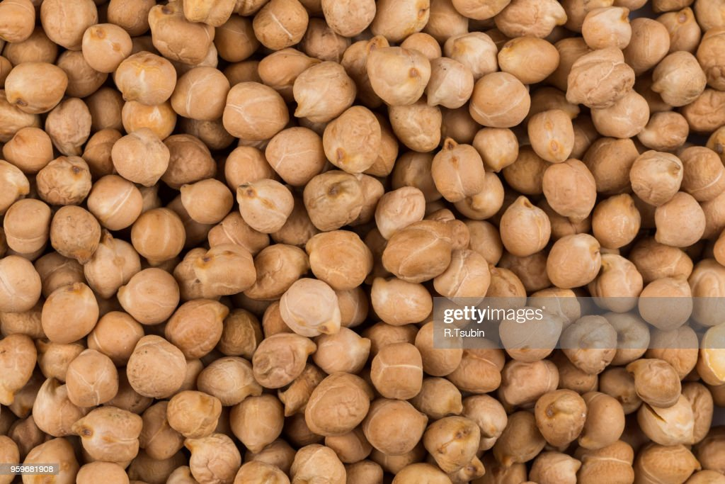 Chick-pea beans for background. Close up shot : Stock-Foto
