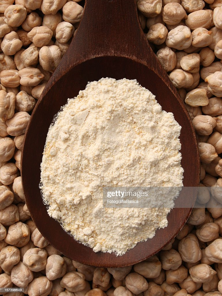 Chickpea flour : Stock Photo