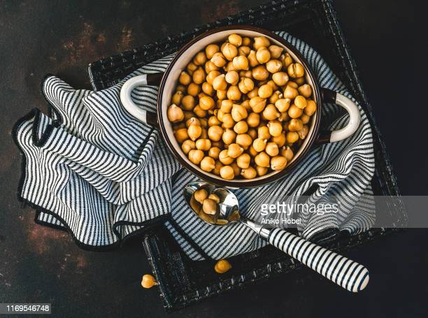 chickpeas - aniko hobel stock pictures, royalty-free photos & images