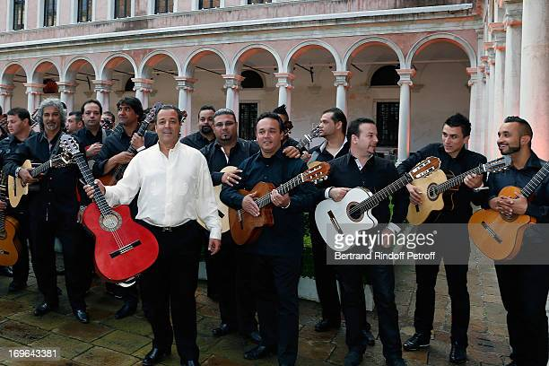 Chico and the Gipsy Kings play at the Dinner At 'Fondazione Cini Isola Di San Giorgio on May 29 2013 in Venice Italy