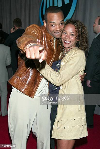 Chico Benymon and Rachel True during UPN 2002-2003 Prime Time Upfront Party at The Theater at Madison Square Garden in New York City, New York,...