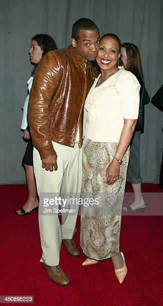 Chico Benymon and Telma Hopkins of Half & Half during UPN 2002-2003 Prime Time Upfront Party at The Theater at Madison Square Garden in New York...