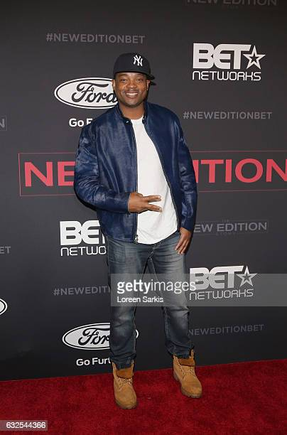 Chico Benymon attends the premiere of BET's The New Edition Story at Paramount Studios on January 23 2017 in Hollywood California
