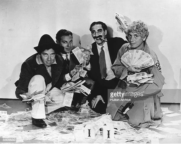 Chico Zeppo Groucho and Harpo Marx star in the film 'Duck Soup' directed by Leo McCarey and produced by Paramount Pictures