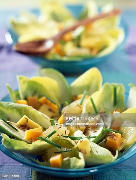 Chicory salad with mango