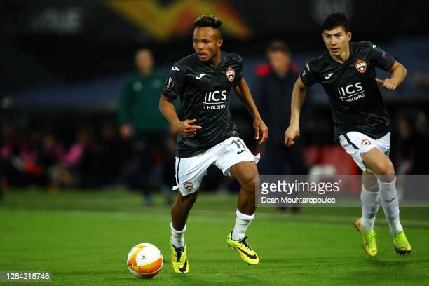 Chidera Ejuke of CSKA Moscow in action during the UEFA Europa League Group K stage match between Feyenoord and CSKA Moskva at De Kuip on November 05,...